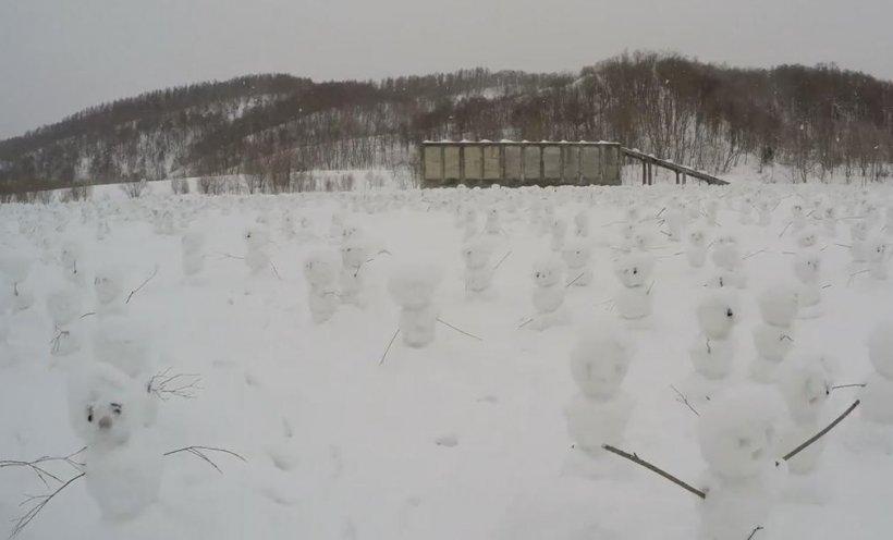 Câţi oameni de zăpadă pot fi construiţi într-o oră. Recordul incredibil stabilit în Japonia