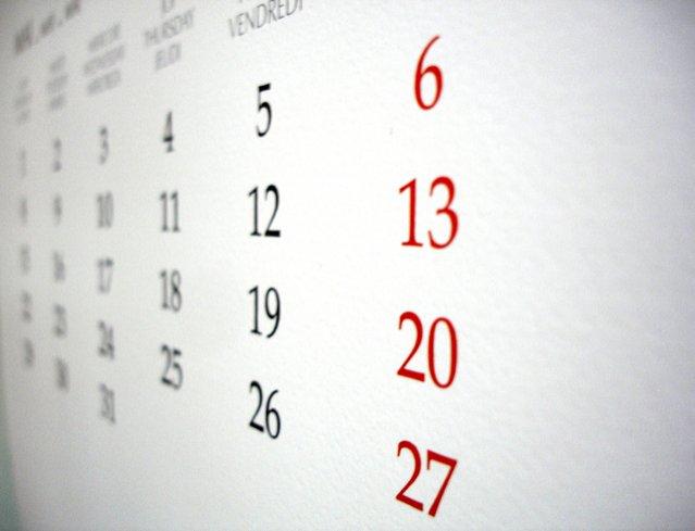 Câte zile libere vom avea în 2016