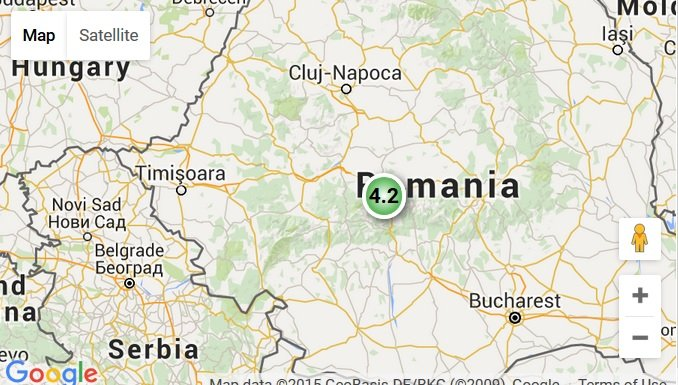 Cutremur de 4.2 în România marți seară