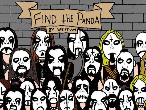 Un alt puzzle în care trebuie să găsești ursul panda. De data asta, mai greu