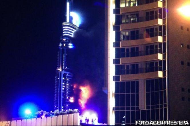 Incendiul din Dubai. Toți oamenii aflați în hotel au fost evacuați