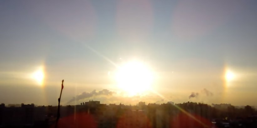 Locuitorii unui oraș din Rusia au văzut trei sori pe cer marți dimineață