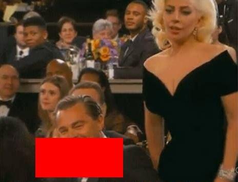 GLOBURILE DE AUR. Imaginea care a scandalizat lumea. Ce făcea Leo DiCaprio pe la spatele cântăreței Lady Gaga