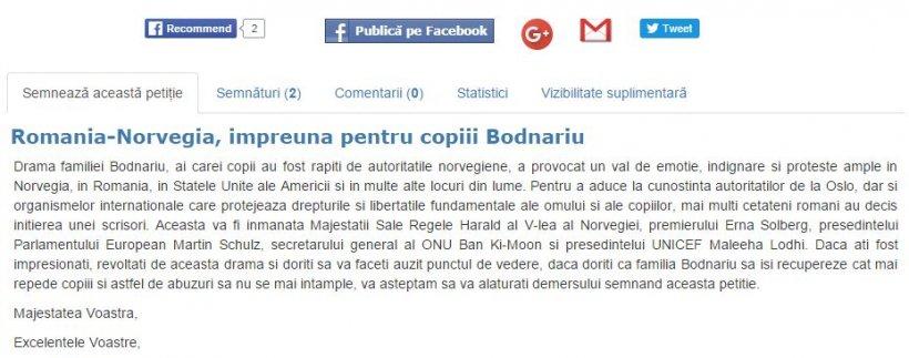 Petiție pentru salvarea copiilor familiei Bodnariu. Semnează și tu!