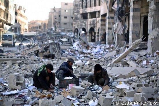 """""""Populația suferă de foame"""". Armata rusă anunță """"operațiuni umanitare"""" în Siria"""