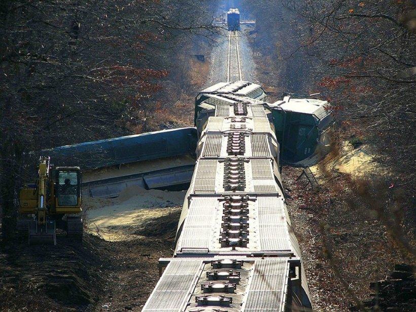 Un tren de marfă a deraiat în Bulgaria