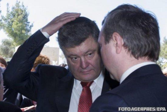 Pacea din Ucraina, fragilă după o declarație de ultimă oră a lui Poroşenko