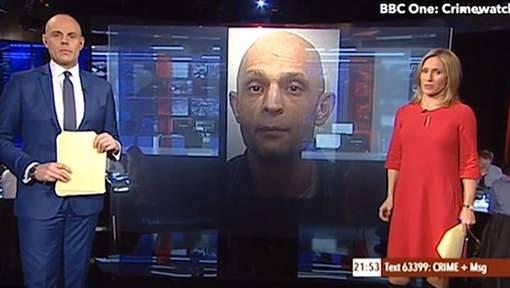 Moment penibil pentru un prezentator tv. A arătat portretul unui criminal care îi semăna leit