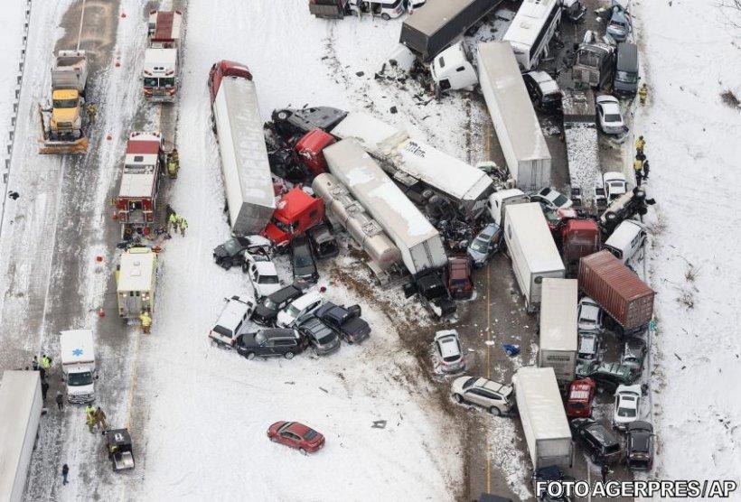 SUA: Accident rutier cu peste 50 de mașini implicate. Imagini șocante - VIDEO  817