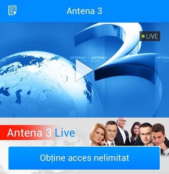 UPDATE. Acces GRATUIT la Antena 3 LIVE pe internet. Află toate detaliile