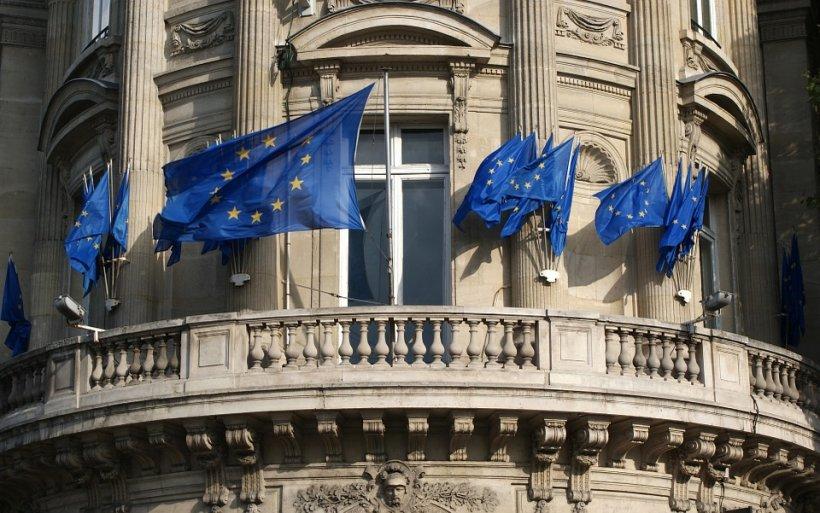 Deputatul Bogdan Diaconu a aruncat steagul Uniunii Europene, la o conferință de presă