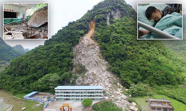 O școală din China a fost înghițită de o alunecare masivă de teren. Zeci de copii se aflau în clădire. VIDEO