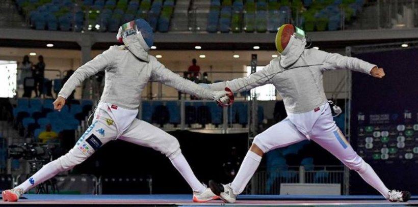 Echipa masculină de sabie a României, medaliată cu bronz la Mondialele de la Rio