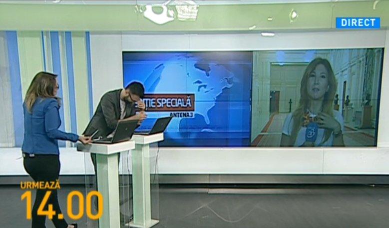 S-a întâmplat în direct la Antena 3! Ce-a făcut o jurnalistă când a fost întrebată ce are la gât
