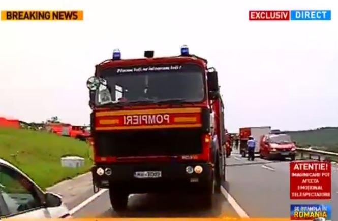 Primele imagini de la locul accidentului din Brașov. VIDEO dramatic de la locul tragediei