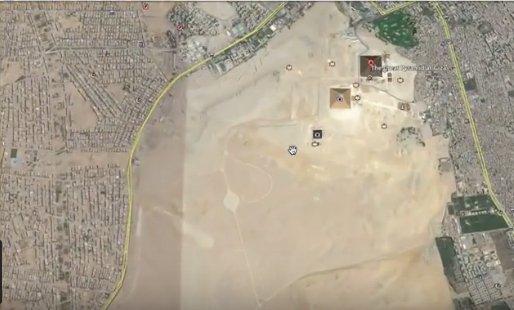 Ce se vede pe Google Earth lângă Marea Piramidă din Giza! Este inexplicabil - FOTO