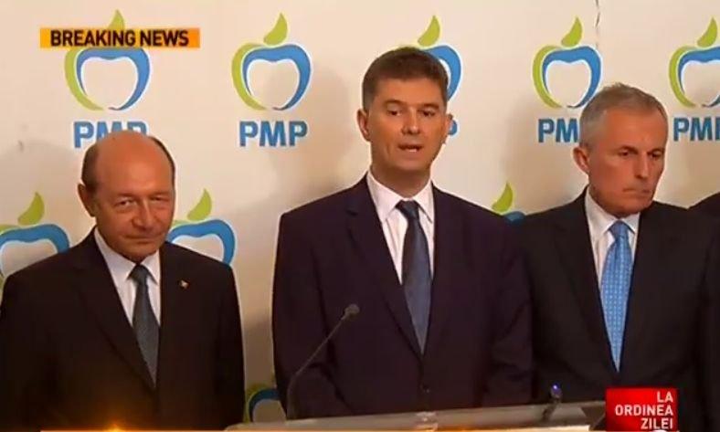 UNPR fuzionează cu partidul lui Traian Băsescu. Noul partid se va numi Partidul Mișcarea Populară