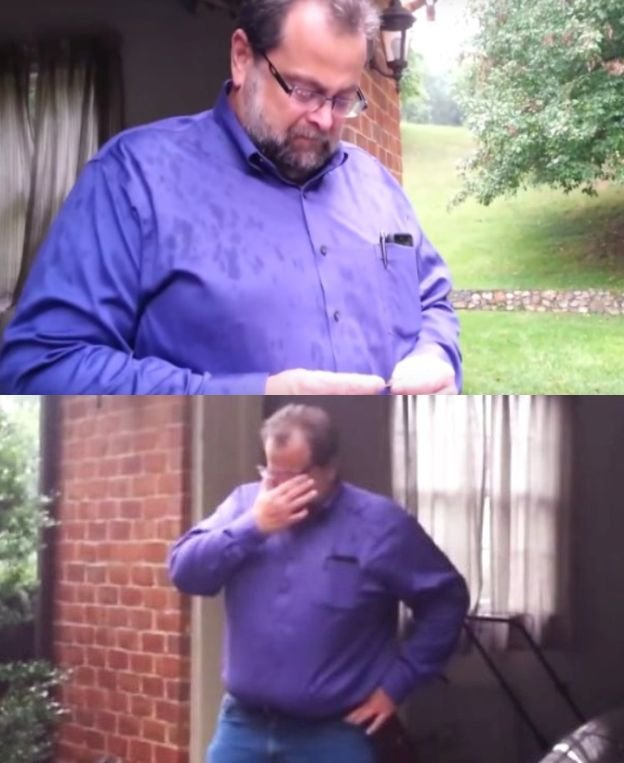 Nevasta lui a ținut un secret față de el. După 21 de ani, l-a rugat să iasă afară, în ploaie. Bărbatul, șocat de ce a văzut. Totul a fost filmat  127