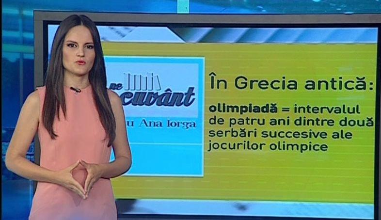 Pe cuvânt, cu Ana Iorga. Olimpiadă, sinonim cu Jocurile Olimpice?