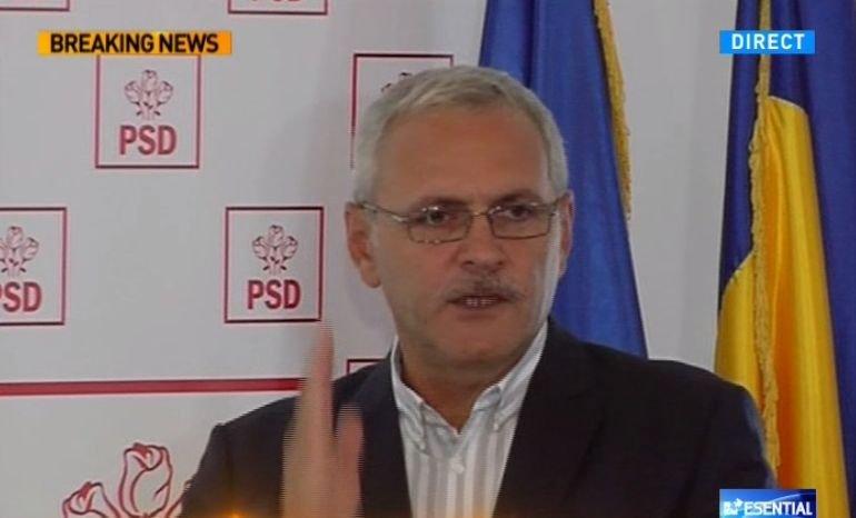 """Liviu Dragnea, nervos în conferință de presă: """"PNL este un partid ipocrit!"""""""