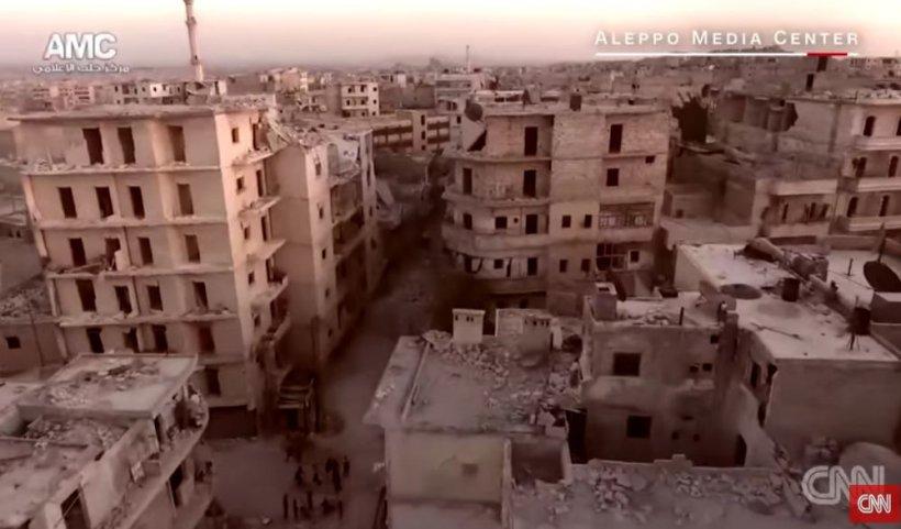 Cum a transformat războiul un oraș considerat odinioară perla Siriei! Imagini tulburătoare filmate în Alep