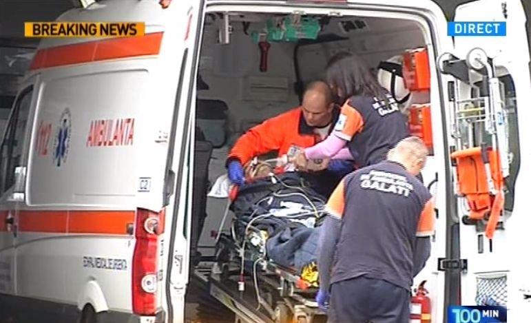 Una dintre victimele incendierii de la Galați a ajuns la spitalul Floreasca