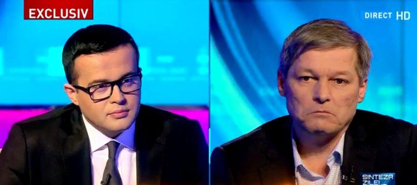 """Dacian Cioloș, la """"Sinteza Zilei"""". Adrian Ursu îl contrazice pe premier: Ați făcut această afirmație bazându-vă pe o lipsă de informații"""