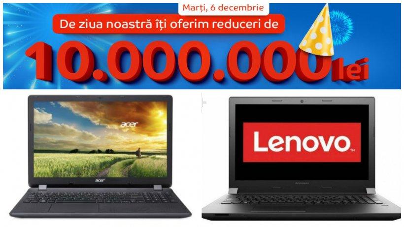 Ziua eMAG laptopuri. Moș Nicolae aduce super-reduceri pe 6 decembrie