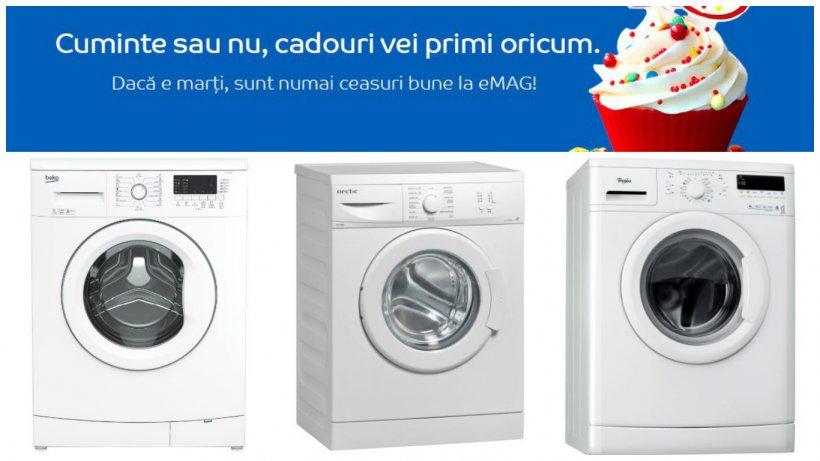 Ziua eMAG mașini de spălat. Pe 6 decembrie vine avalanșa prețurilor mici
