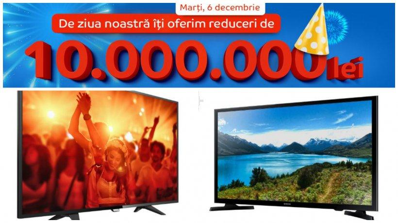 Ziua eMAG televizoare. 6 decembrie te surprinde cu reduceri uriașe