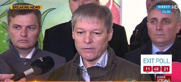 Dacian CIOLOȘ a VOTAT: Important e ca rezultatul să fie unul cât mai reprezentativ