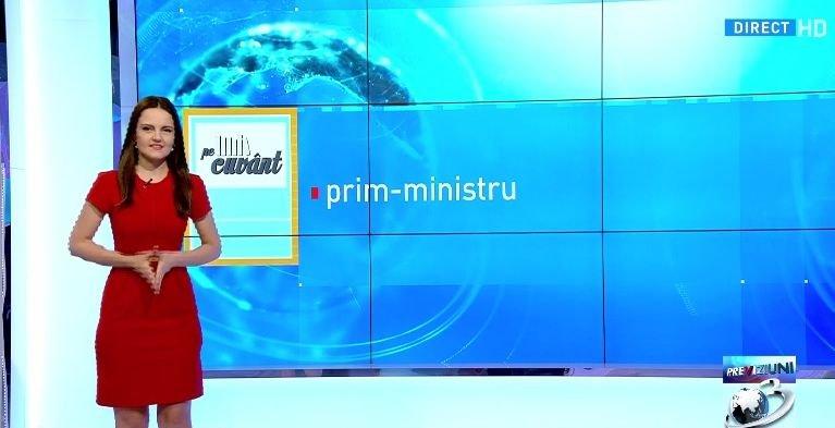Pe cuvânt, cu Ana Iorga: Prim-ministrul sau primul-ministru?