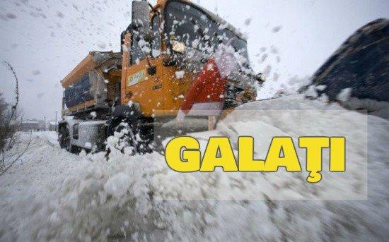 Galaţi: Şapte drumuri judeţene, blocate din cauza viscolului