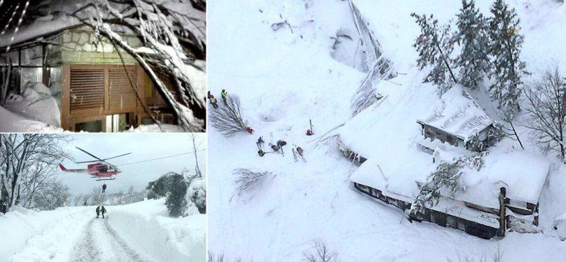 Imagini cu hotelul lovit de avalanșă, în Italia. Mai mulți turiști și angajați ar fi fost găsiți morți 482