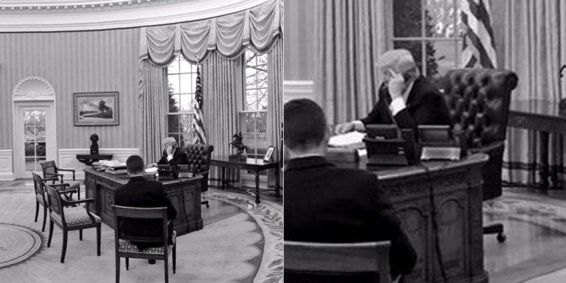 Imaginea bizară publicată de Casa Albă pe rețelele de socializare. Cum a fost surprins Donald Trump