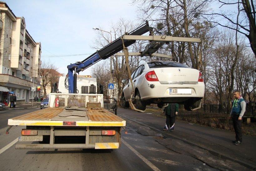 Cât plătesc şoferii ca să-şi recupereze maşinile ridicate în Sibiu