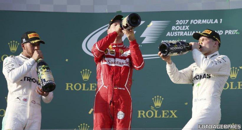 Auto - F1: Sebastian Vettel (Ferrari) a câștigat Marele Premiu al Australiei