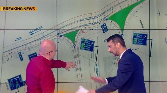 CNAIR, proiect controversat în zona Pasajului Otopeni. Oficialii de la Drumuri s-au încurcat în explicaţii în privinţa modificărilor de trafic