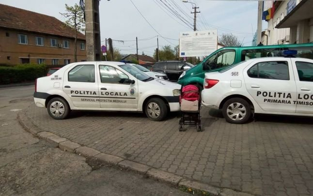 Timișoreanul care a publicat imagini cu mașini ale Poliției Locale parcate neregulamentar a primit o amendă de 900 de lei
