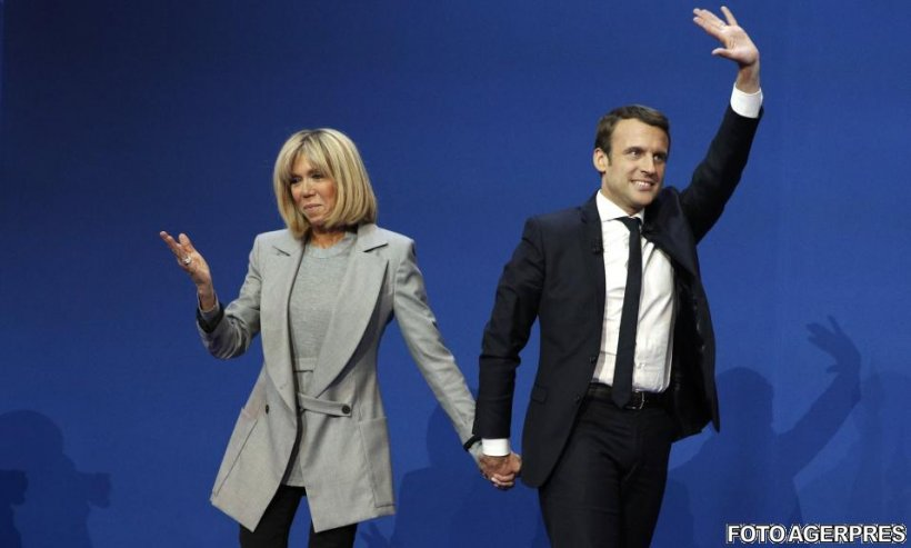 Cine este Brigitte Trogneux, soţia lui Emmanuel Macron, cu 25 de ani mai bătrână decât politicianul francez