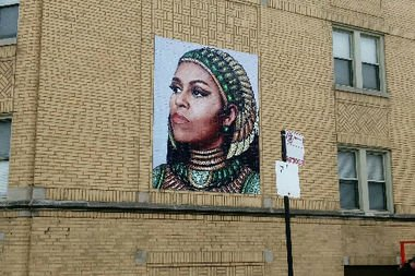 Controverse legate de un desen mural care o prezintă pe Michelle Obama - VIDEO