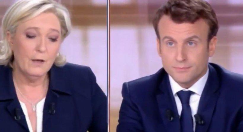 """Alegeri prezidențiale Franța. Le Pen îl acuză pe Macron de """"complezenţă"""" faţă de fundamentalismul islamic"""