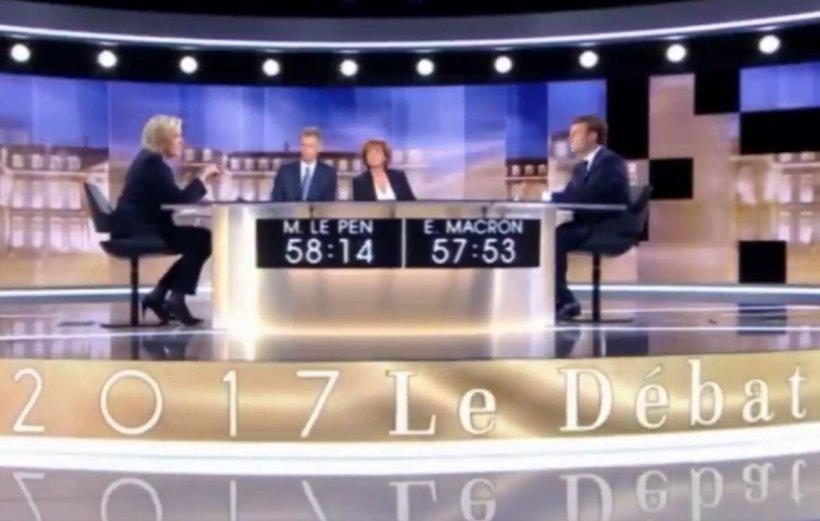 Alegeri prezidenţiale Franţa: Macron, mai convingător ca Le Pen în dezbaterea televizată tensionată şi plină de atacuri verbale dintre tururi
