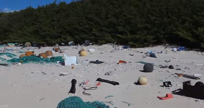 Cum arată plaja cu cele mai multe deșeuri