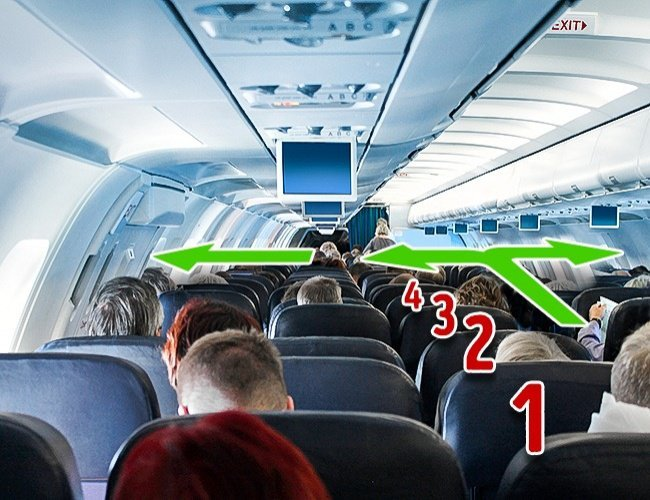 De ce trebuie să numeri rândurile când ajungi în avion! Este cea mai importantă măsura de siguranță!