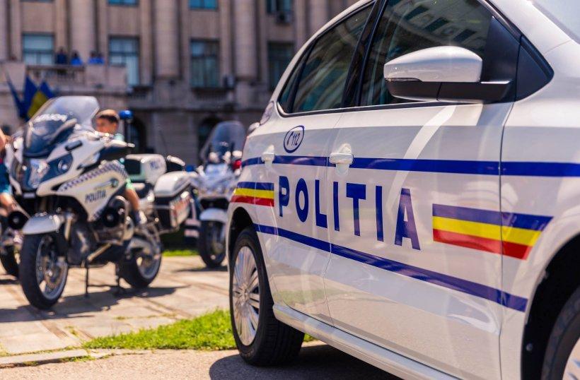 Accident cu mașina Poliției, aflată în misiune