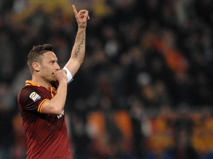 Roma, victorie cu mari emoţii, la ultimul meci al lui Totti