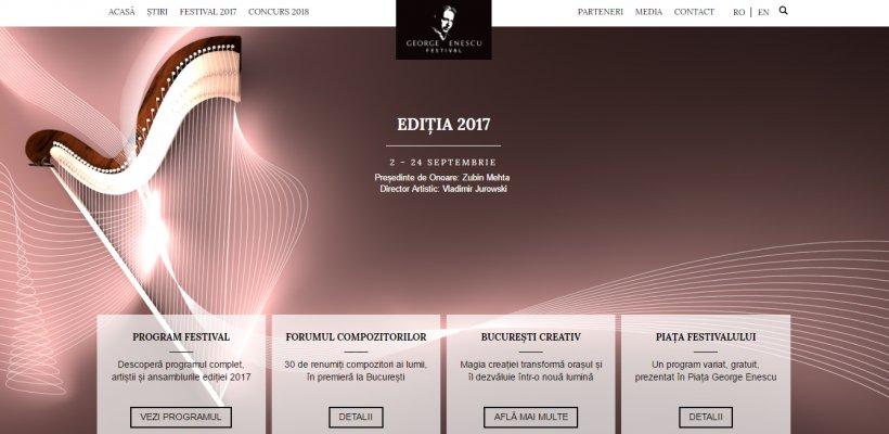Festivalul Enescu își lansează noul site ce permite vizualizarea mai rapidă a programului și a biletelor disponibile