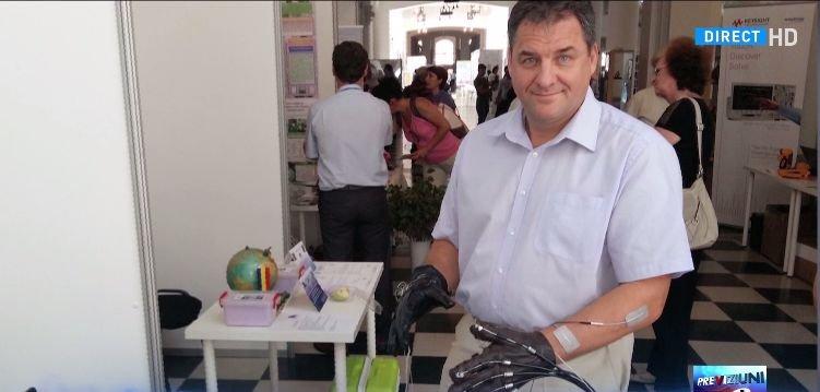 Eroul zilei: Marian Poboroniuc, inventatorul mănușii mecatronice