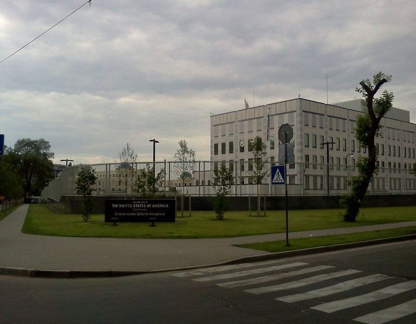 Explozie la ambasada SUA de la Kiev
